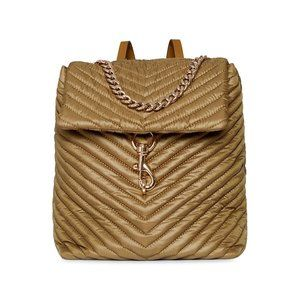 $159 *NEW* Rebecca Minkoff Edie Chevron-Quilted Nylon Backpack